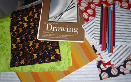 New fabrics for sketchbooks