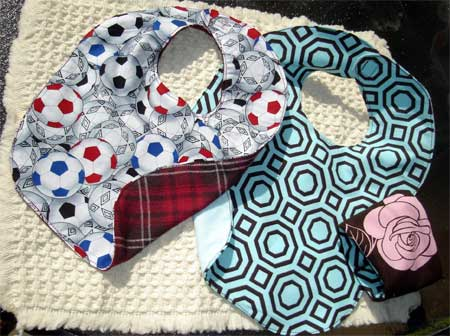 Baby Bibs with matching coffee cuff