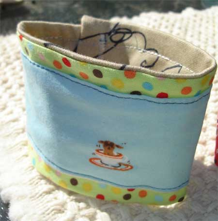 Tea Cup Dog Coffee Cuff