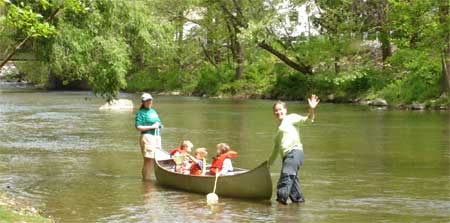 Canoe with kids