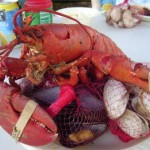 New England Fare: Clams, mussels and lobsters from a clambake.