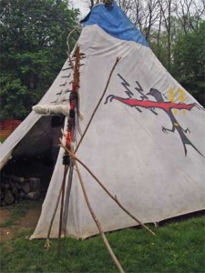 Visit the tipi in the LifeWays area.