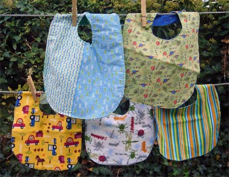 Bibs for the babies, too.