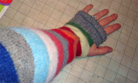 Stripe-edy handwarmers I whipped up this week.
