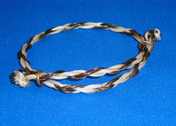 My newest product: adjustable horse hair bracelet
