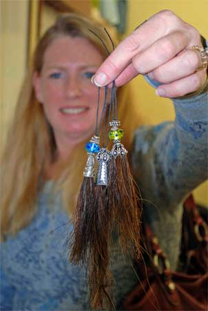 These horse hair tassels are pretty enough to put on a Christmas Tree.